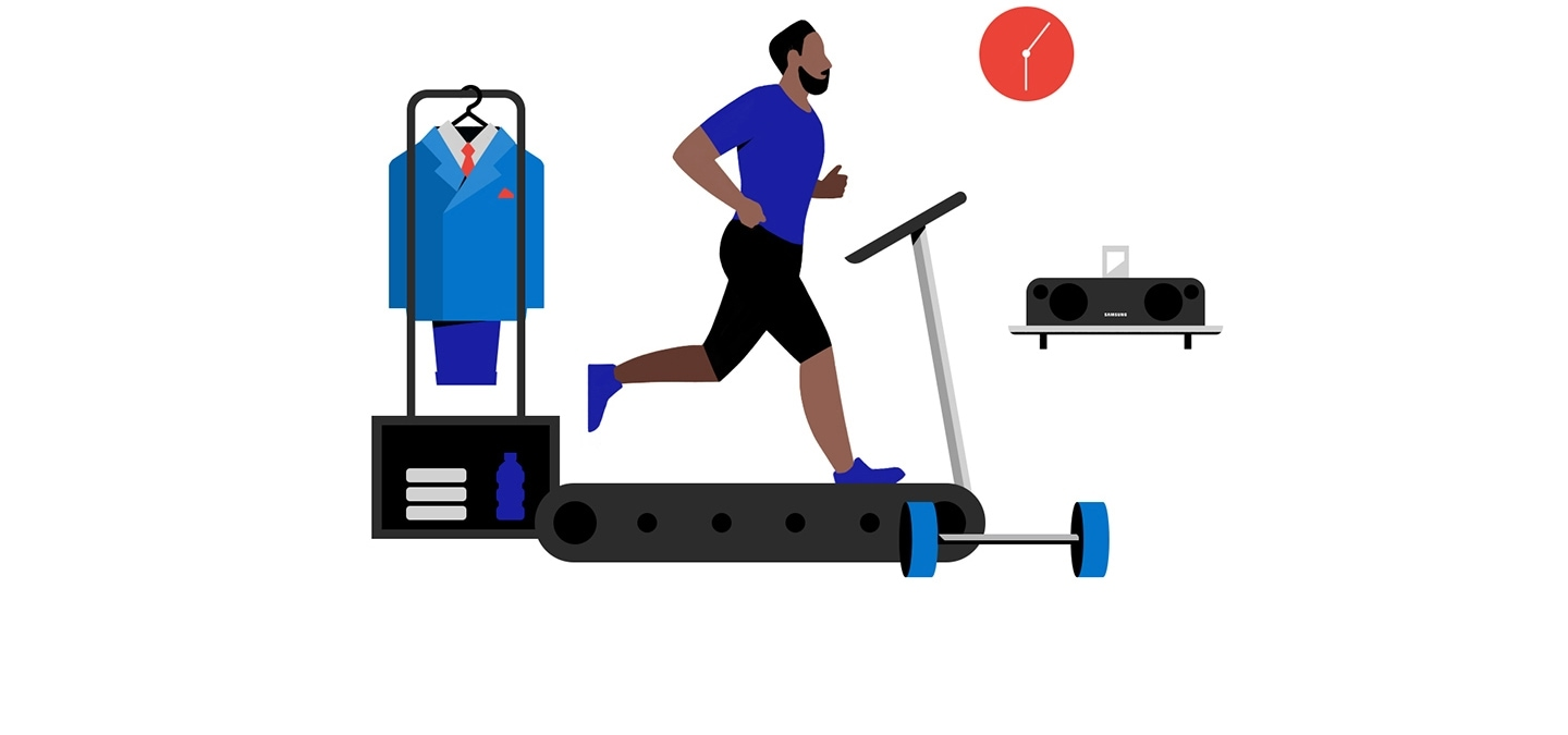 The illustration of treadmill shows Cory dose work out very often.