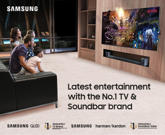 Latest entertainment with the No.1 TV & Soundbar brand