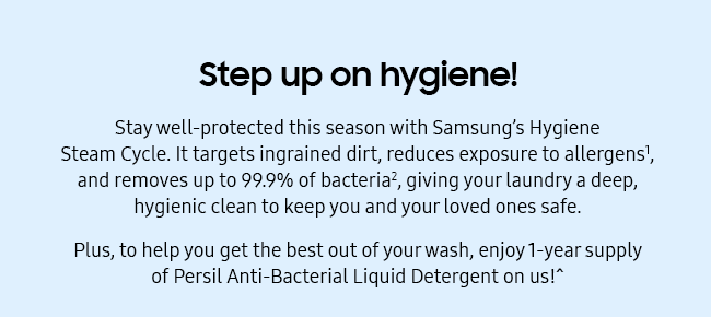Step up on hygiene