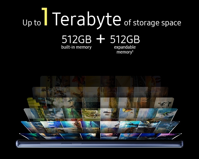 Up to 1 Terabyte of storage space