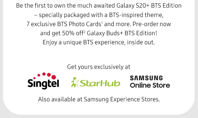 Be the first to own the much awaited Galaxy S20+ BTS Edition