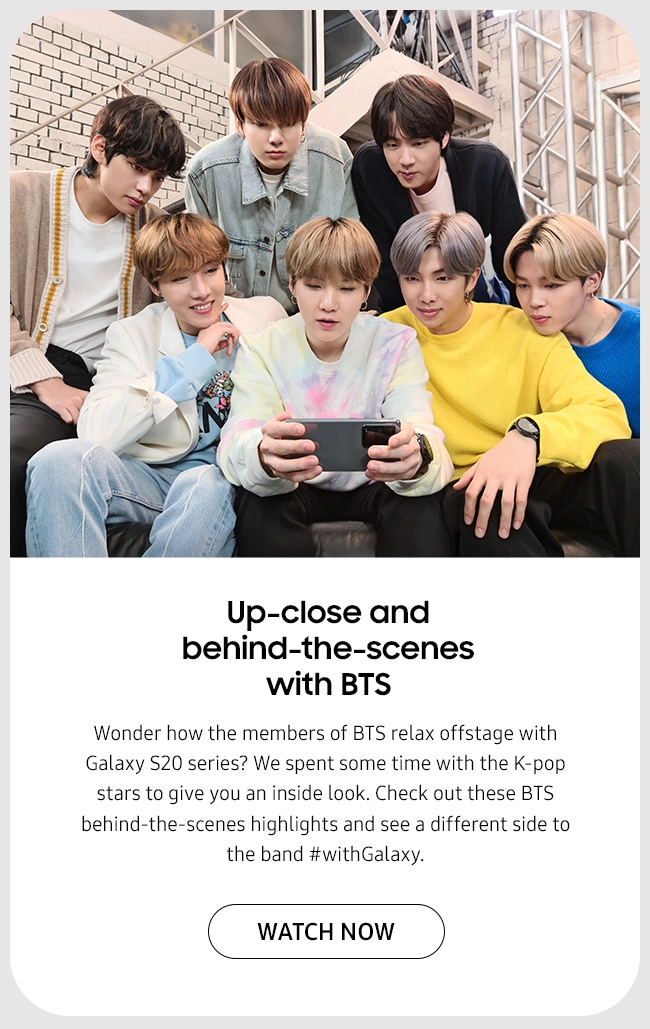 Up-close and behind-the-scenes with BTS