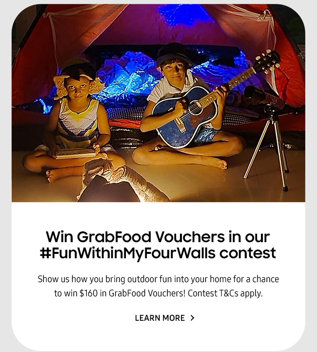 Win GrabFood Vouchers in our #FunWithinMyFourWalls contest