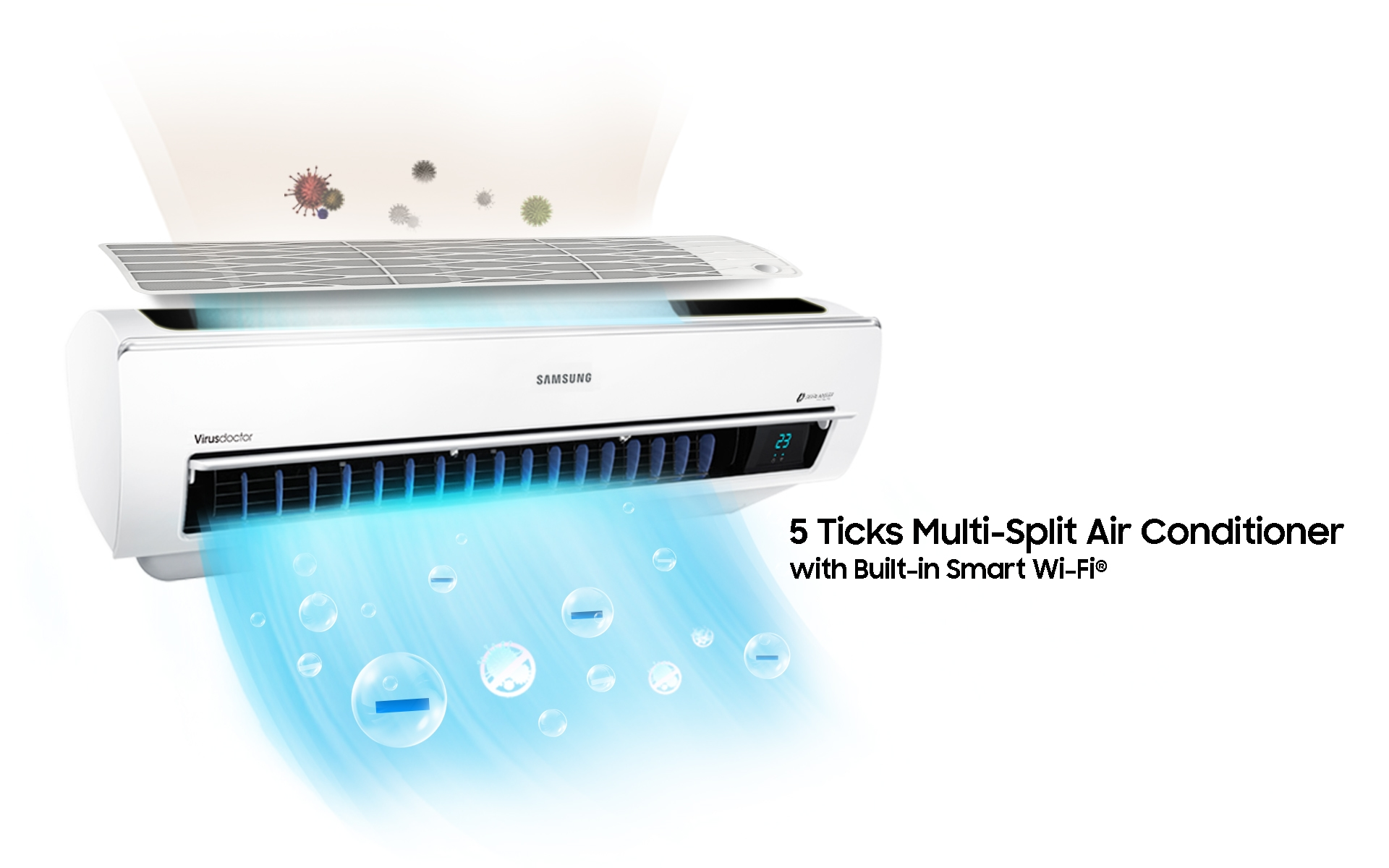 5 Ticks Multi-Split Air Conditioner with Built-in Wi-Fi