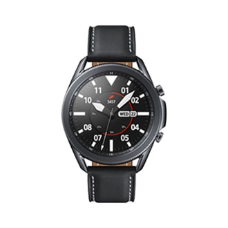 galaxy watch3 (45mm) mystic black front and back