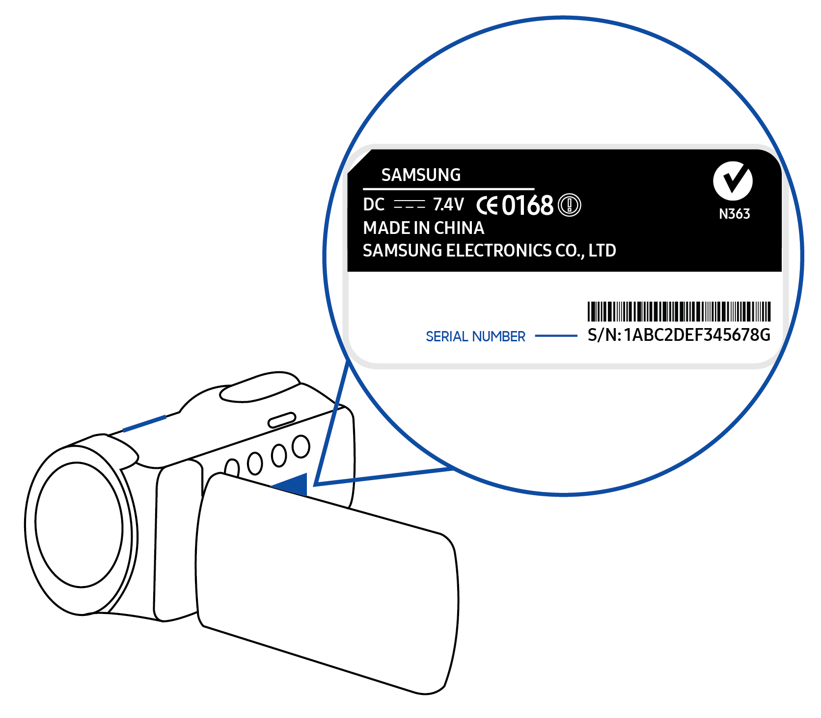 how to find model and serial number of your samsung product