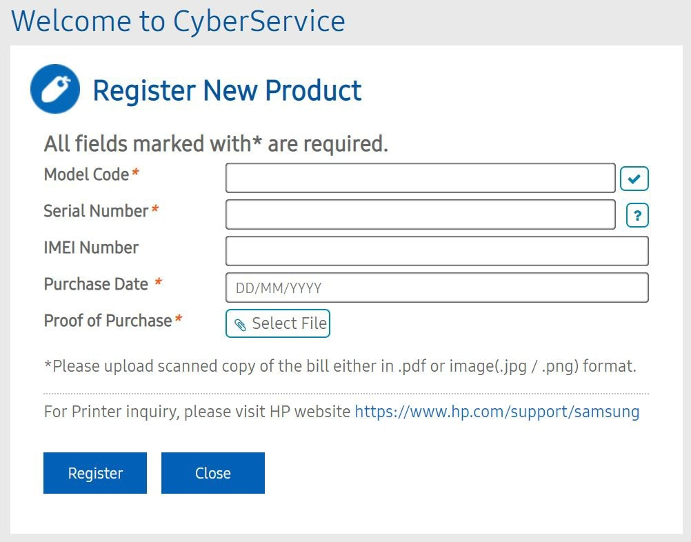 How to register your Samsung product in Singapore?