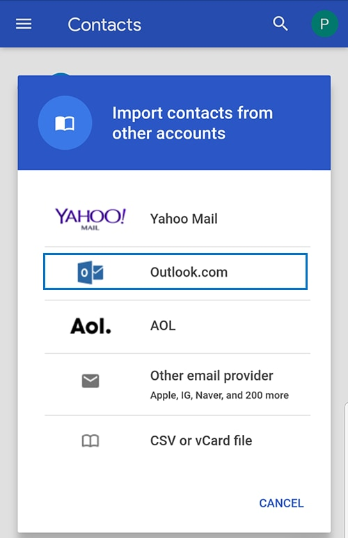 How to transfer contacts from Outlook to Samsung Mobile