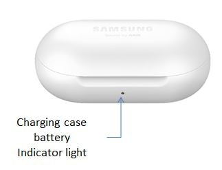 Charging case battery indicator light