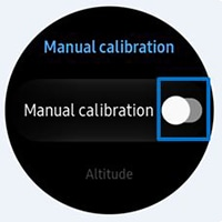 Tap Manual calibration switch to activate