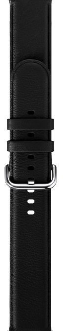 leather type black color strap