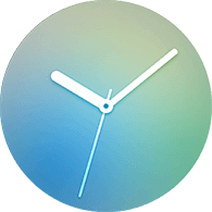 gradation type sliver color watchface