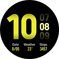 new dashboard type yellow color watchface
