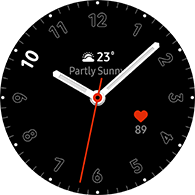 simple basic 2 type black color watchface