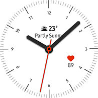 simple basic 1 type white color watchface