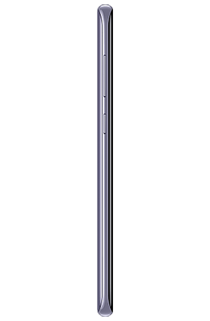Left side view of Galaxy S8+ in Orchid gray