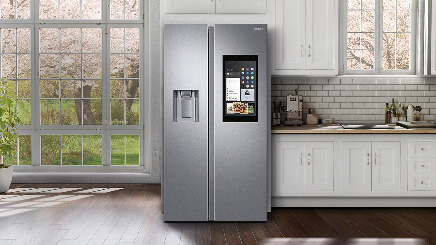 Samsung Family Hub™ - Modern Kitchen with Samsung Family Hub™ Fridge Silver