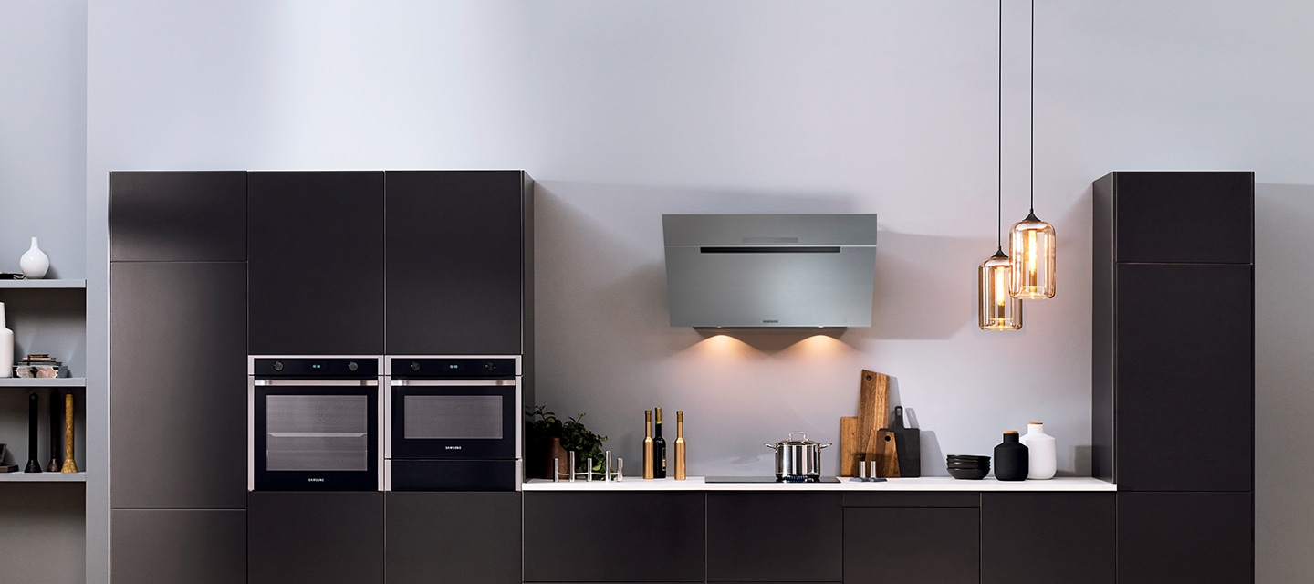 A Full Package Of Samsung Built In Appliances Is Well Harmonized With  Premium Dark Grey