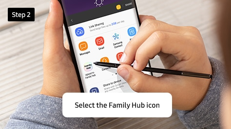 2. Select the Family Hub icon