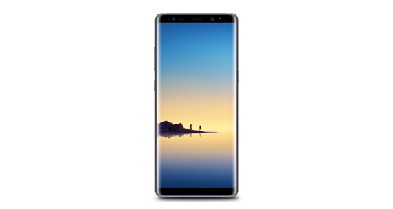 Vue de face du Galaxy Note 8
