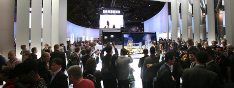 At CES 2013 with Samsung Electronics