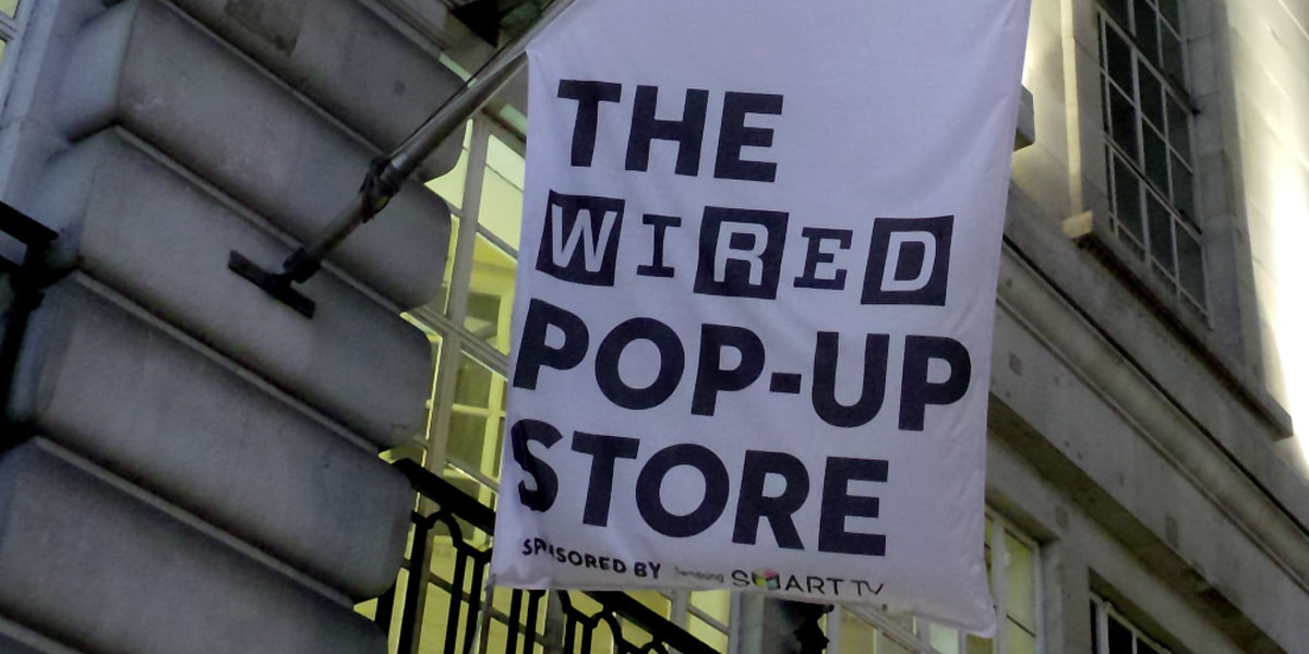 Getting WIRED in London at Pop-up Launch