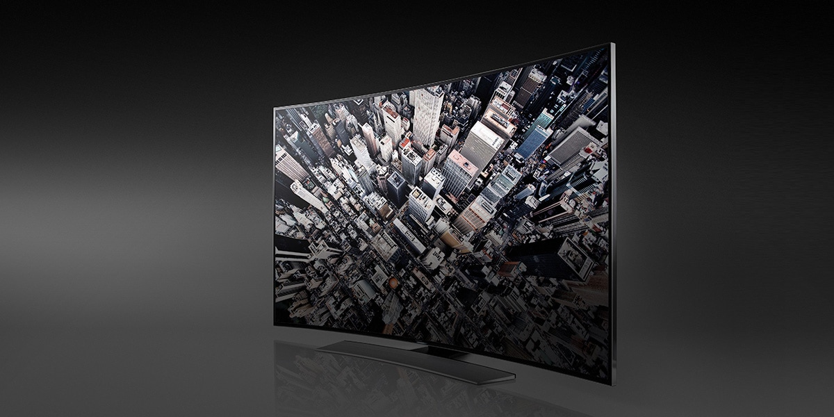 Samsung unveils first curved Ultra-HD TV