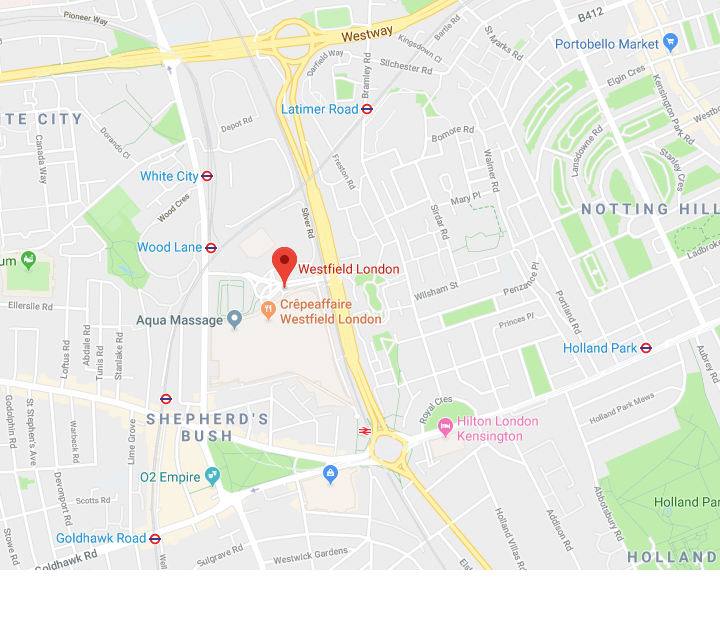 Map image of london galaxy studio location