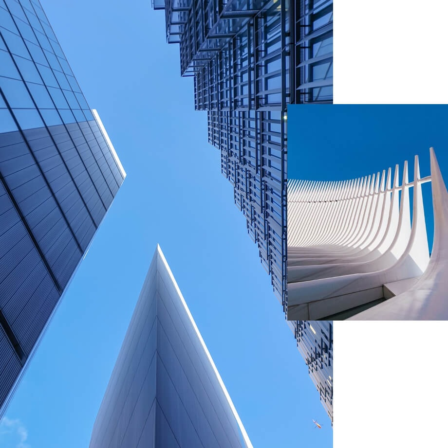 Sharp lines help accent sky photography in London and New York City