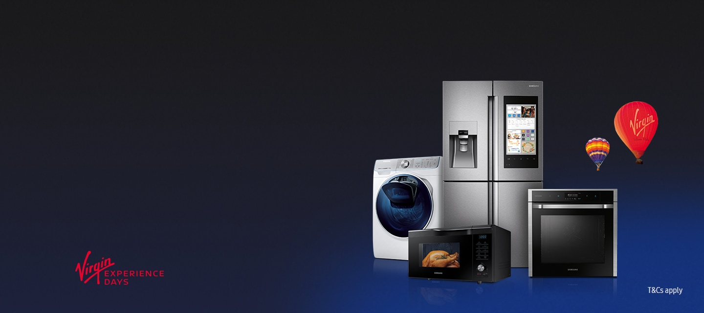 Enjoy a voucher to spend on Virgin Experience Days when you buy selected Samsung Home Appliances