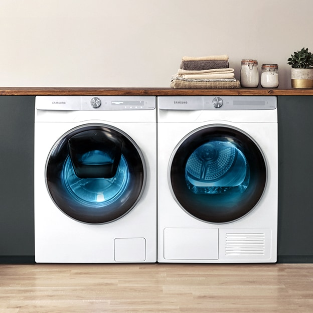 All new Samsung energy efficient washing machines and dryers