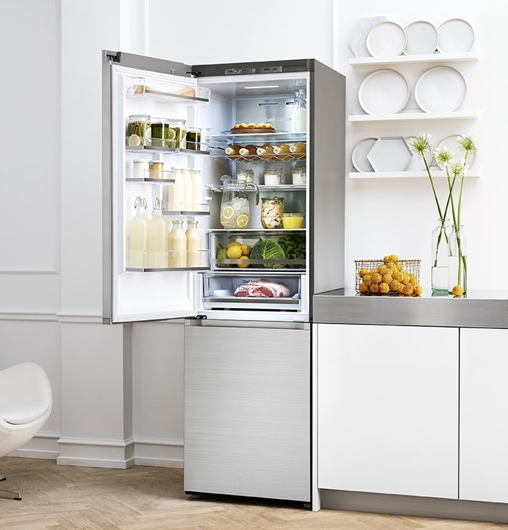 Samsung Bottom Mount Freezers - Modern Kitchen with Bottom Mount Freezer White