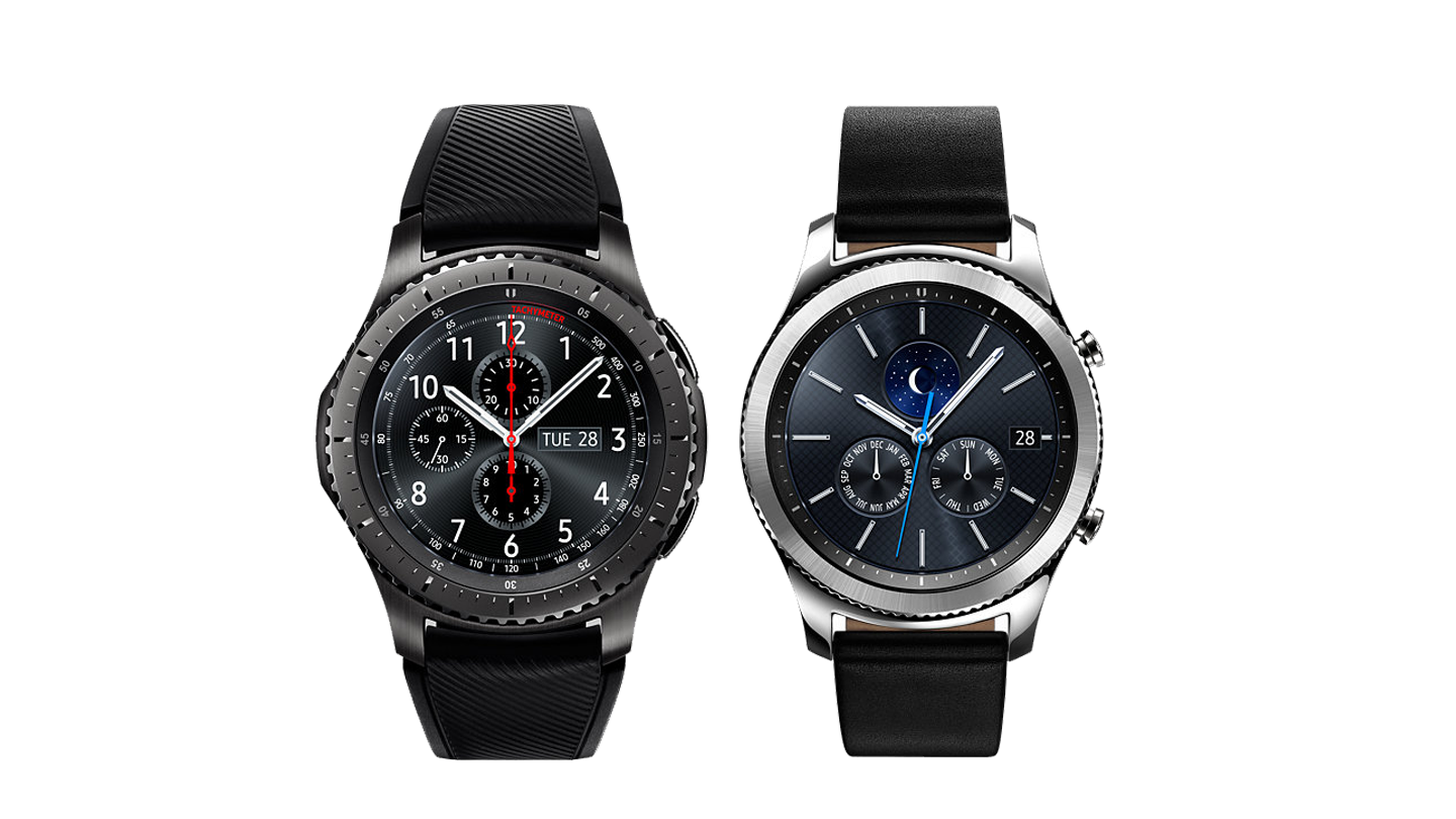 Samsung Gear S3 Frontier and Classic all in black