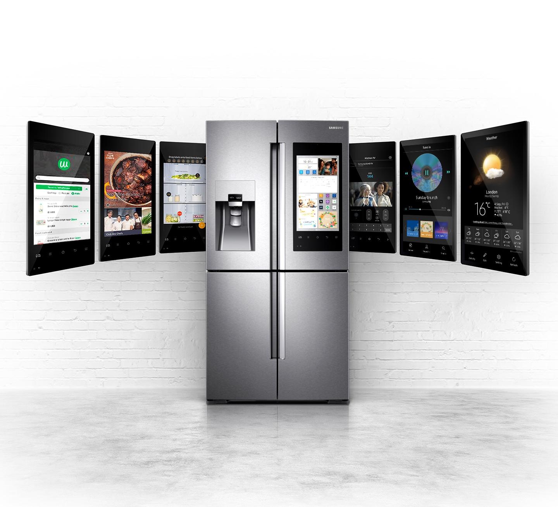 Family Hub Fridge Freezer 550l Rf56k9540sr Samsung Uk