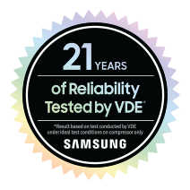 Graphic of the 21 year reliability certificate from VDE