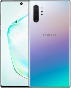 Front and back view of the Samsung Galaxy Note10+ 5G