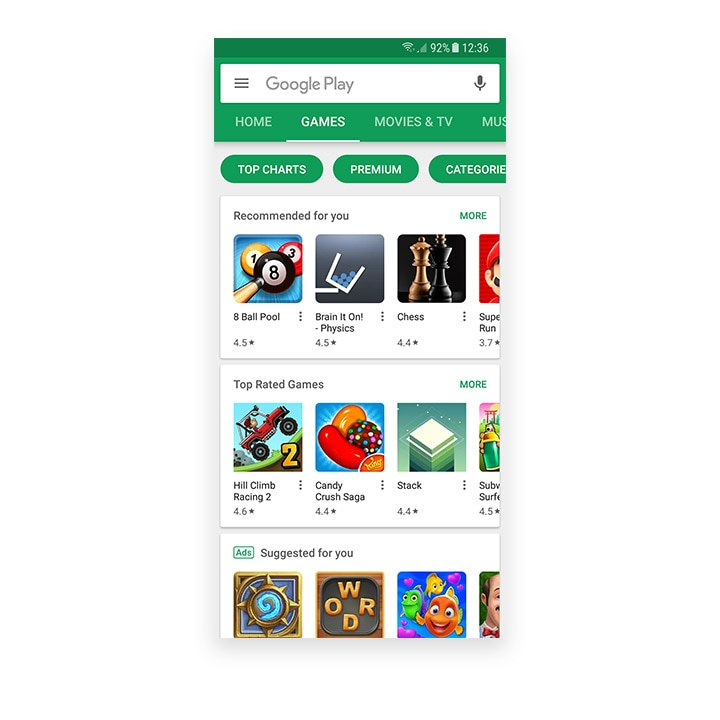 Google Play Games Store