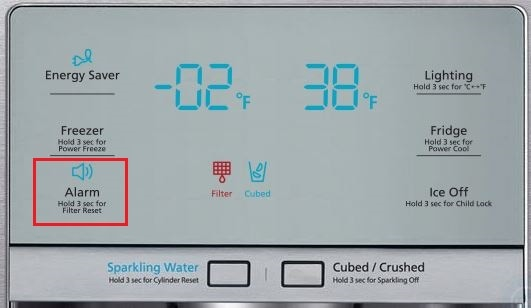 How do I change the filter on my Four-door Fridge Freezer? (models RF24F* or RF24H*)