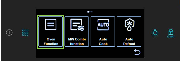 How do I select cooking options on my oven?