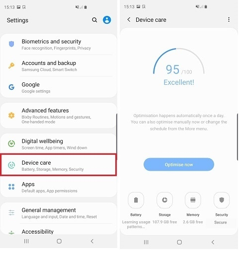 What is Device Care and how do I use it? | Samsung Support UK
