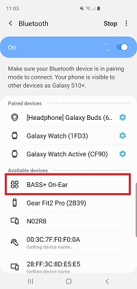 Bluetooth headset to my Samsung Galaxy