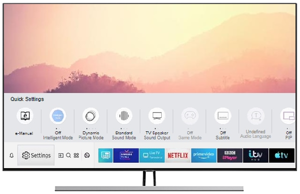 How do I change the menu language on my Samsung TV?