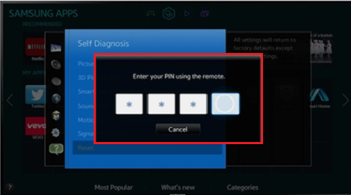 How do I perform a factory reset on my Samsung TV? | Samsung Support UK