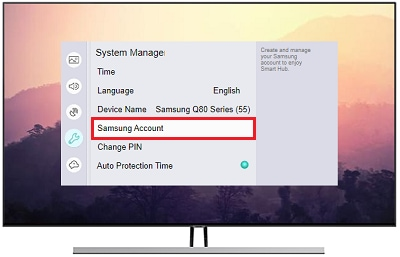 Select Samsung Account