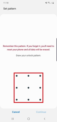 Draw the pattern you would like to use