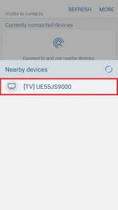 How do I connect my Samsung Galaxy S7 or S7 Edge to my Samsung Smart TV using Quick Connect?