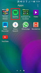 How do I get the Spotify Music app on my Samsung Galaxy device?