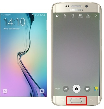 How do I launch the Camera quickly on my Galaxy S6 or S6 edge?