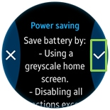 How do I put my Gear S2 into power saving mode?