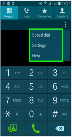 How do I quickly access contact and call settings on my Samsung Galaxy Ace 4?
